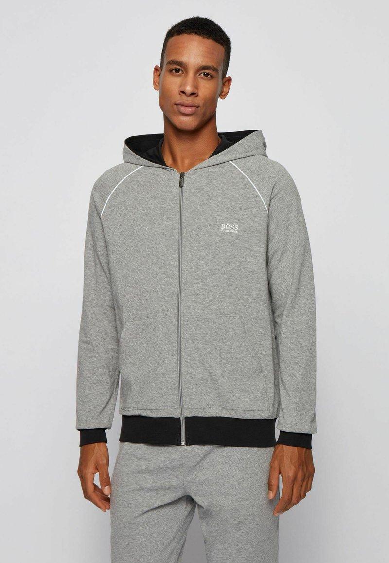 BOSS - veste en sweat zippée - grey