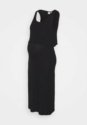 NURSING DRESS - Maxi dress - black