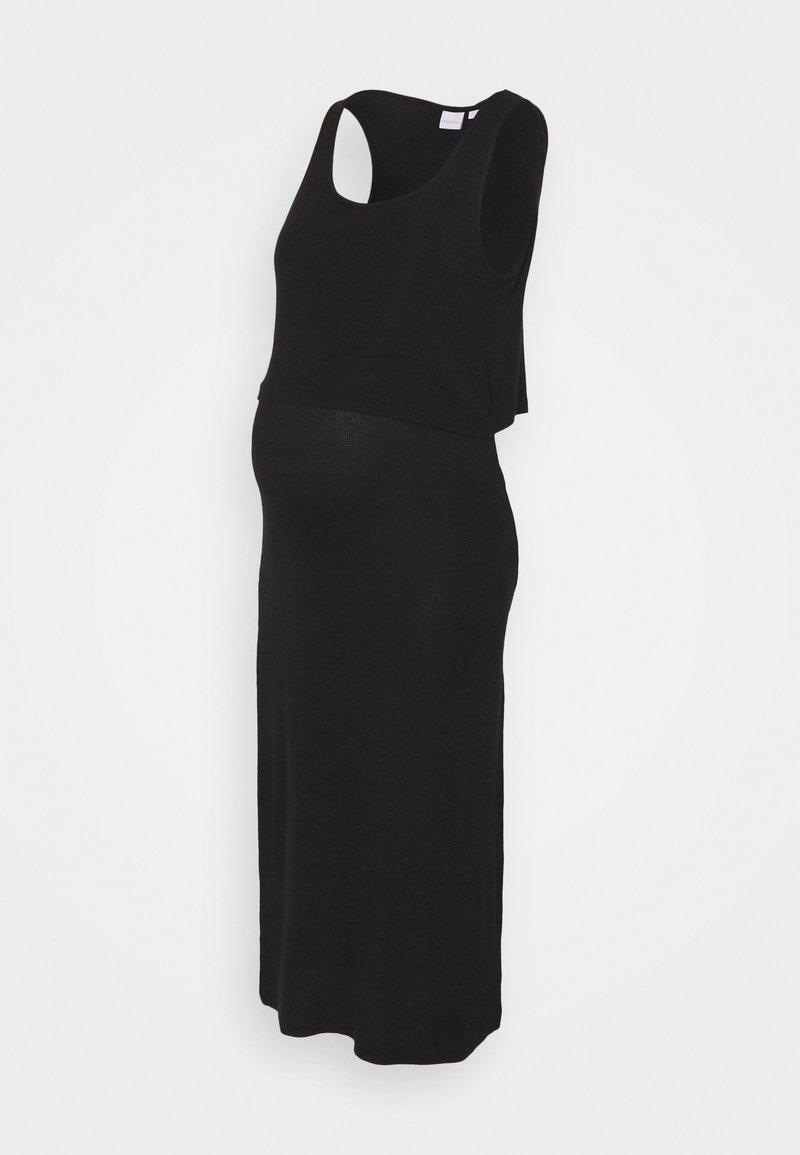 MAMALICIOUS - NURSING DRESS - Maxi dress - black