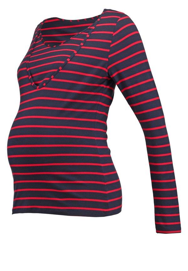 Pomkin ZOE - Bluzka z długim rękawem - rouge/blau W paski Odzież Damska SQJF AO 7