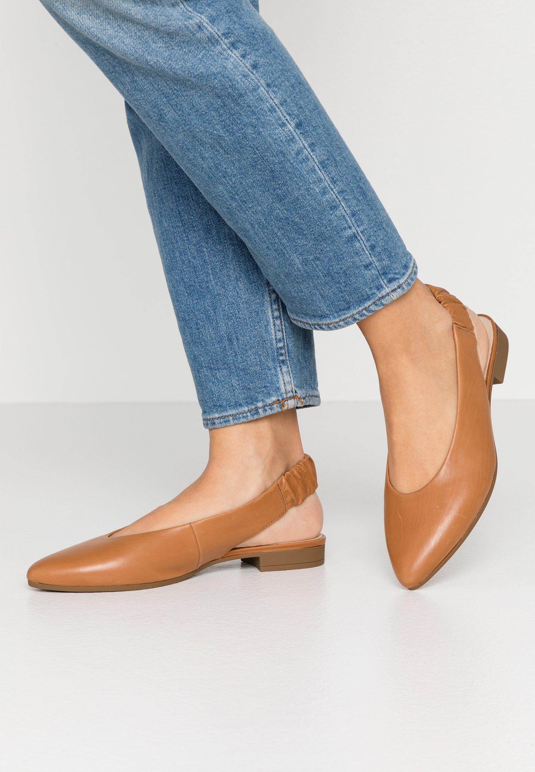 2020 Cool Top Quality Women's Shoes Gabor Slingback ballet pumps cognac D5rVPsA2X LpPt9q5TT