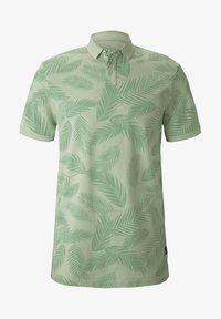 mint palm leaves print