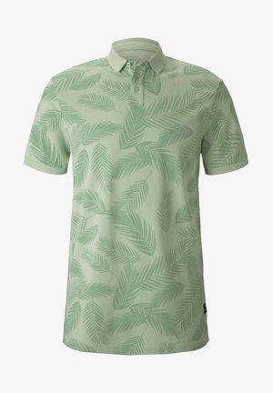 Polo - mint palm leaves print