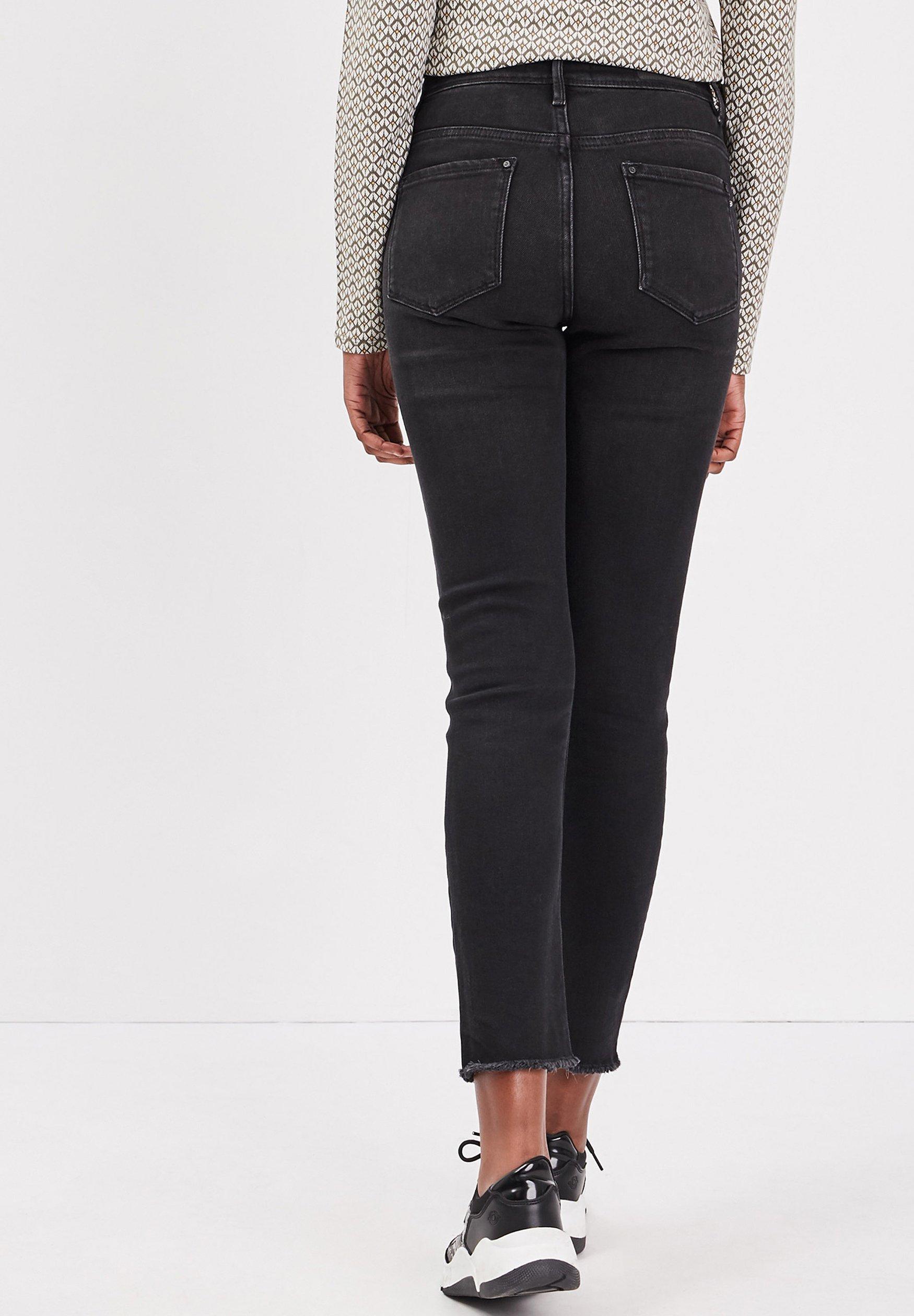 BONOBO Jeans Jean slim - black denim - Jeans Femme t5Fei