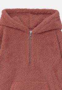 Lindex - TEEN PILE HOODIE PEACH - Fleece trui - dark dusty pink - 2