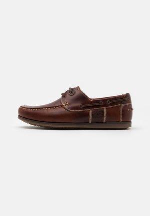 CAPSTAN - Boat shoes - cognac