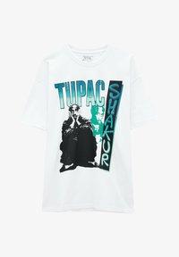 PULL&BEAR - TUPAC SHAKUR - T-shirt con stampa - white - 4