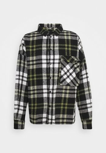 LANDO - Shirt - black/white/mosstone