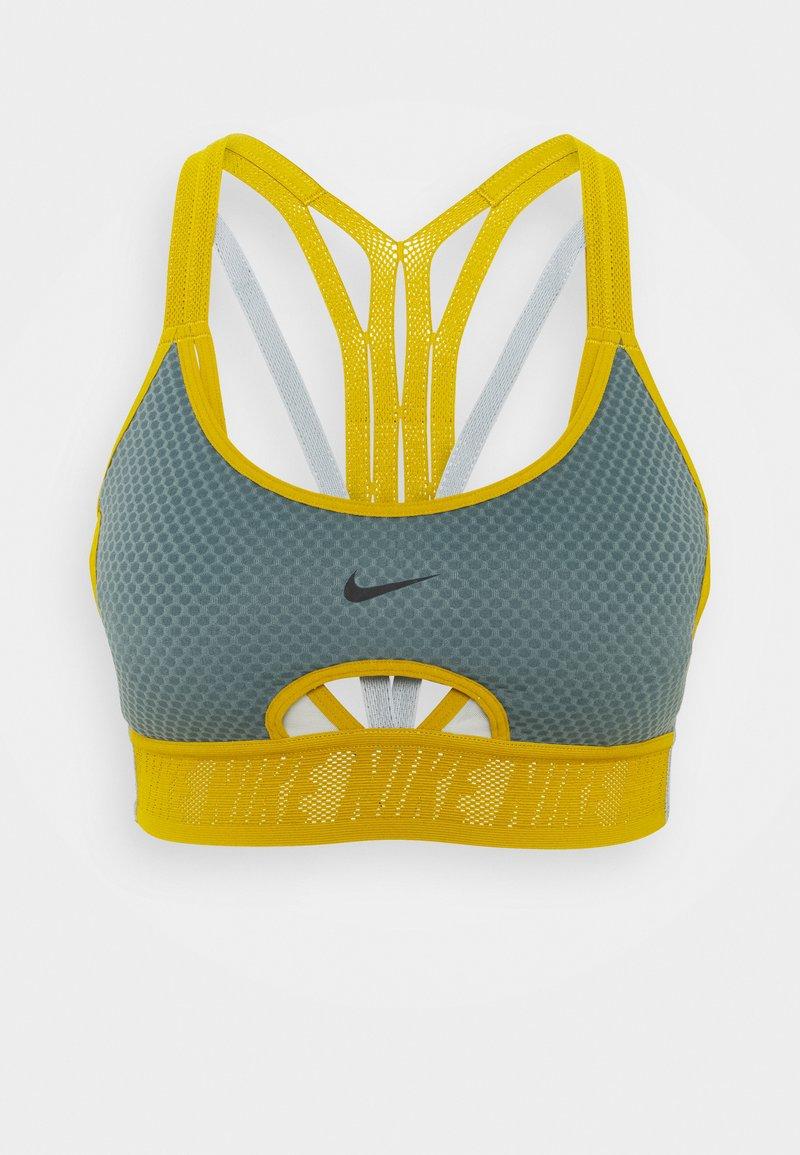 Nike Performance - INDY BRA - Sujetadores deportivos con sujeción ligera - hasta/light silver/dark citron/black