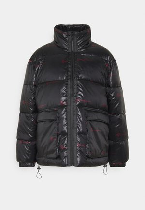 SIGNATURE REPEAT PUFFER JACKET - Winter jacket - black