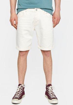 WE FASHION HERREN-JEANSSHORTS - Shorts - off-white