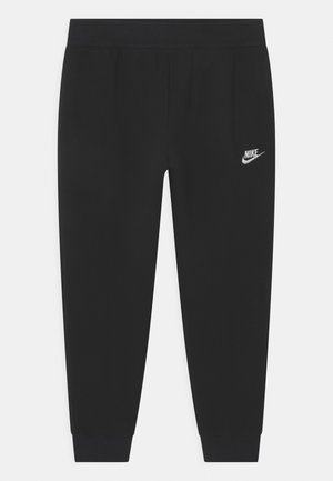 PLUS CLUB - Tracksuit bottoms - black/white