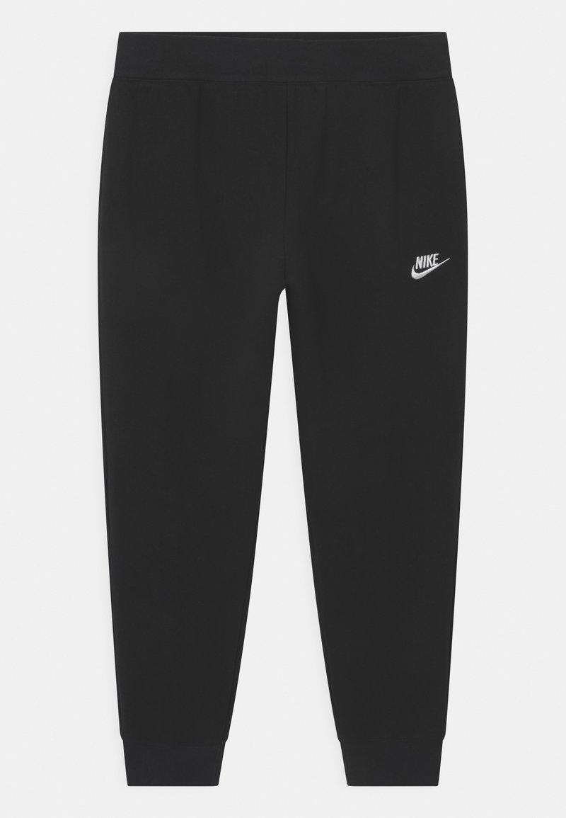 Nike Sportswear - PLUS CLUB - Tracksuit bottoms - black/white