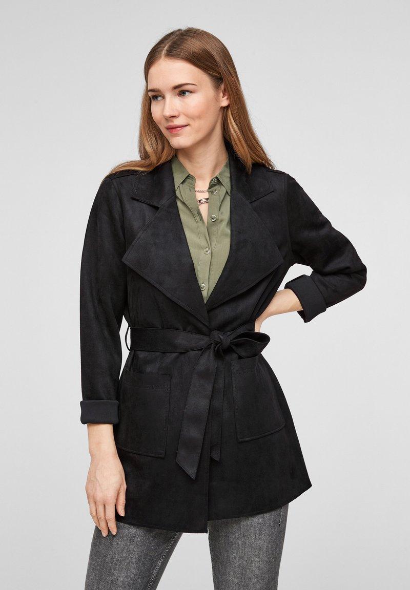 QS by s.Oliver - Short coat - black