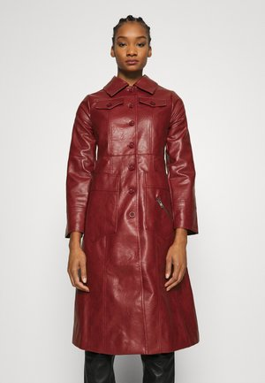 BUTTON FRONT 70S COAT - Mantel - garnet