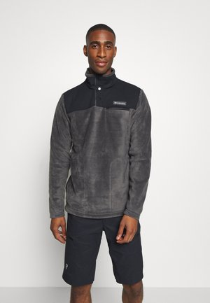 COTTONWOOD PARKHALF SNAP - Fleece jumper - shark/black