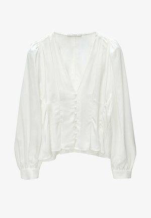 MIT ZIERFALTEN - Blouse - white