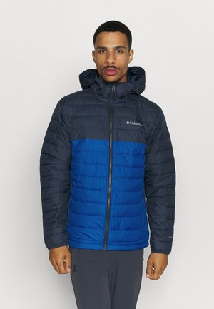 POWDER LITE HOODED JACKET - Veste d'hiver - bright indigo/collegiate navy