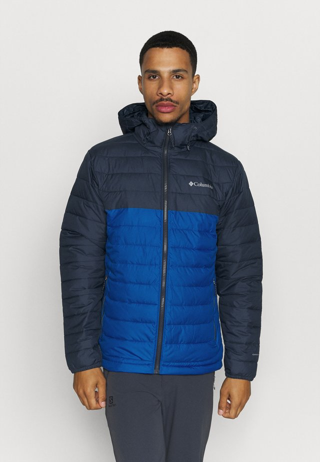 POWDER LITE HOODED JACKET - Vinterjakke - bright indigo/collegiate navy