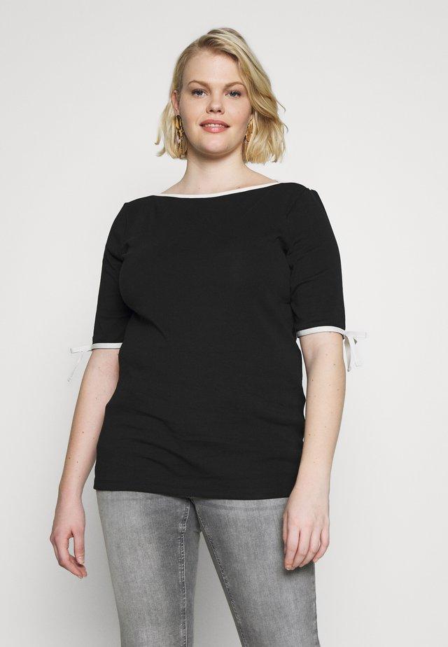 AITHLEY ELBOW SLEEVE - T-shirt z nadrukiem - black