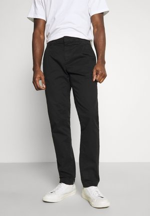 SOLID STRETCH - Chino - black