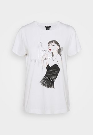 MARTINI CONVERSATIONAL - Print T-shirt - white