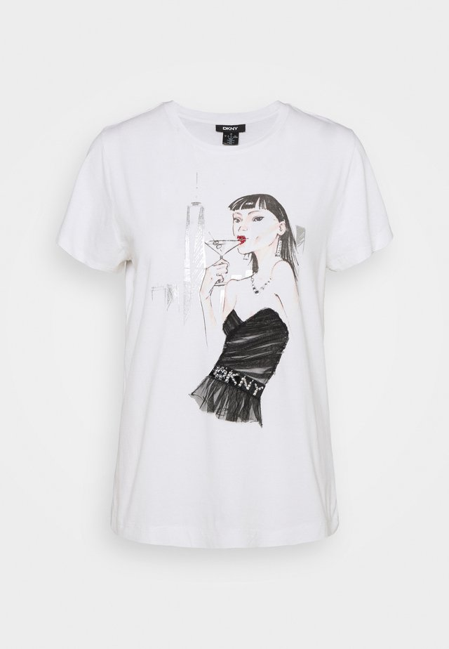 MARTINI CONVERSATIONAL - Camiseta estampada - white