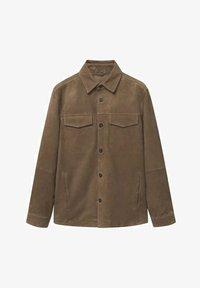 Mango - Leather jacket - hellbraun/pastellbraun - 5