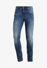 G-Star - 3301 DESCONSTRUCTED SUPER SLIM - Jeans Skinny Fit - medium indigo aged - 4