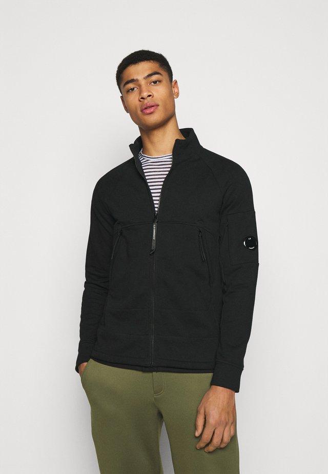 OPEN - veste en sweat zippée - black