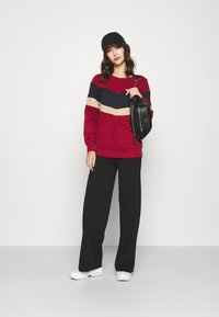 ONLY - ONYCOCO ROCKY WIDE PANT  - Trousers - black - 1