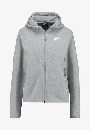 Hoodie met rits - grey heather/white