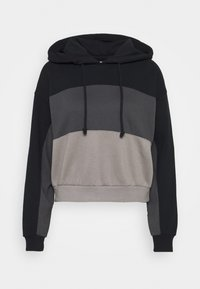 Abercrombie & Fitch - LAYER CHASE - Hoodie - black - 0