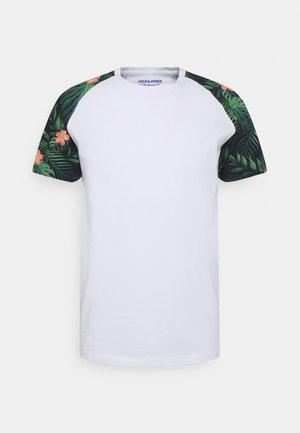 JORFOREST TEE CREW NECK - T-shirt med print - white