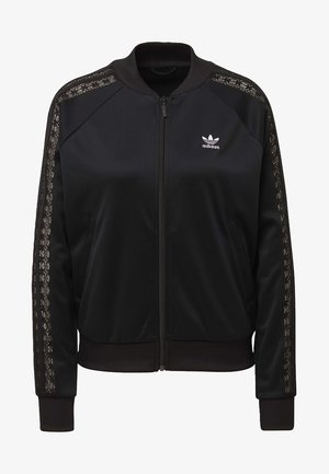 LACE TRACK TOP - Kurtka Bomber - black