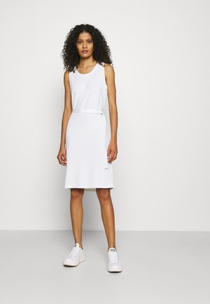 MINI LOGO DRESS - Jersey dress - bright white