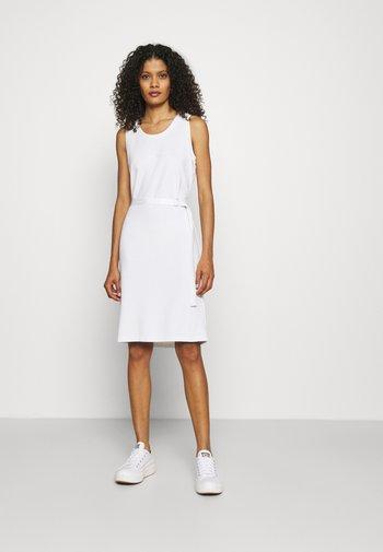 MINI LOGO DRESS - Jersey dress - bright white
