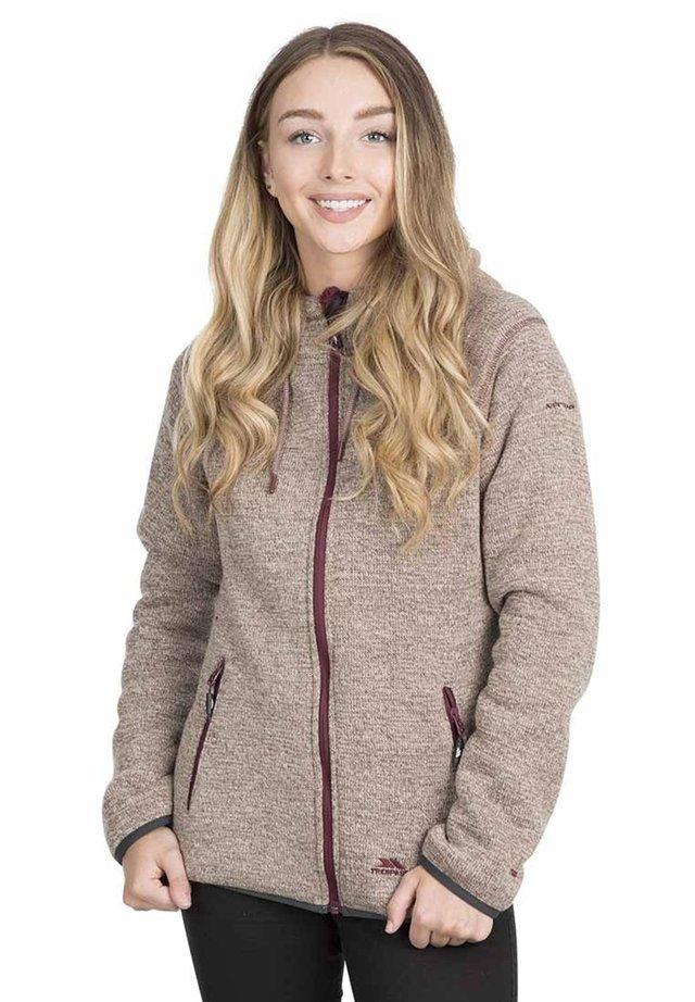 Fleece jacket - brown