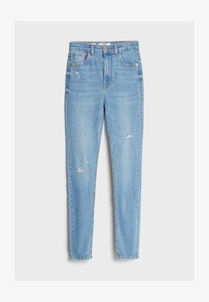 MIT SEHR HOHEM BUND  - Jeansy Skinny Fit - blue denim
