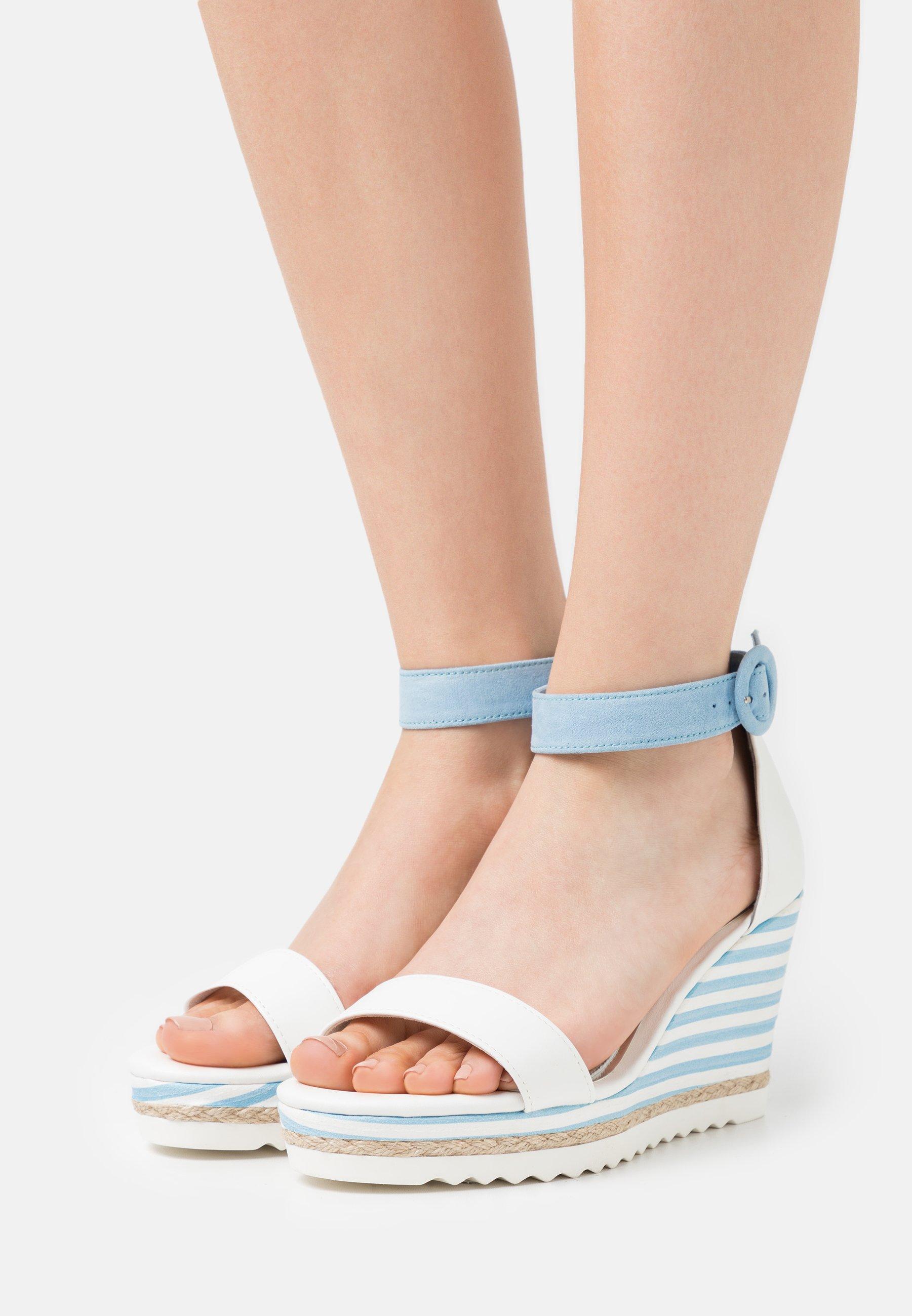 Femme BY GUIDO MARIA KRETSCHMER - Sandales à talons hauts - white/light blue