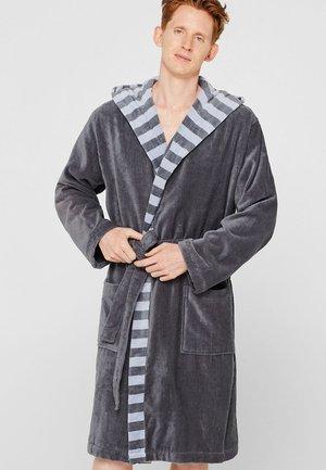 MIT STREIFEN - Dressing gown - grey steel