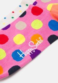 Happy Socks - DOT HALF CREW SOCK BIG DOT HALF CREW SOCK UNISEX 2 PACK - Socks - multi-coloured - 1