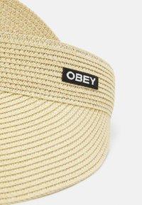 Obey Clothing - SLATER VISOR UNISEX - Kšiltovka - natural - 4