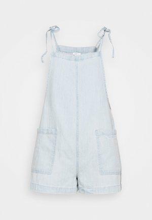 SHOULDER TIE SHORTALLS - Jumpsuit - light wash