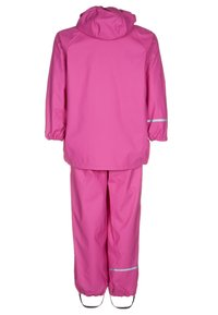 CeLaVi - RAINWEAR SUIT BASIC SET WITH FLEECE LINING - Kalhoty do deště - real pink - 1