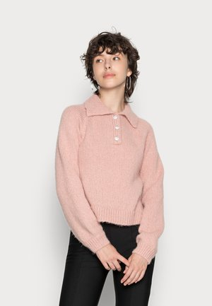 VMMABEL O NECK COLLAR - Stickad tröja - misty rose