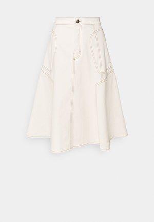 OCTARIA - Áčková sukně - ecru
