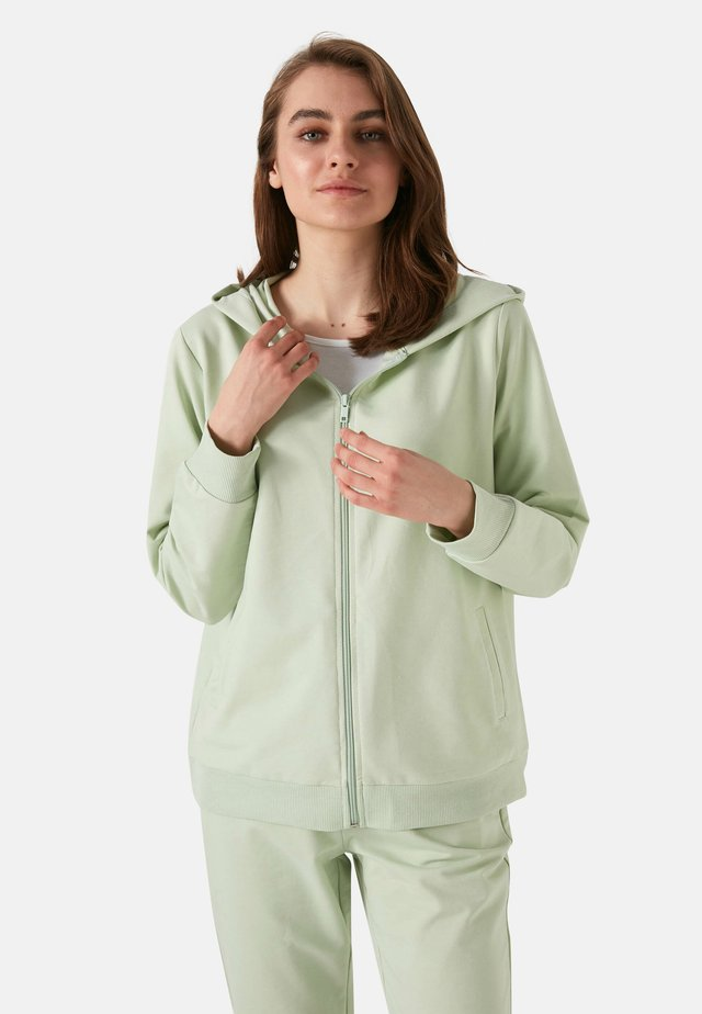 Sweater met rits - green