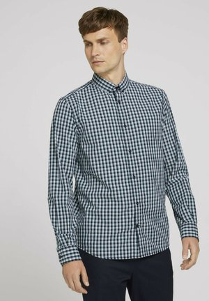 Overhemd - navy blue offwhite small check