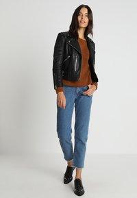 AllSaints - ESTELLA BIKER - Leather jacket - black - 2